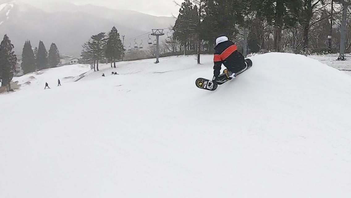 白鳥高原スノースクートパークライディング_ウォール