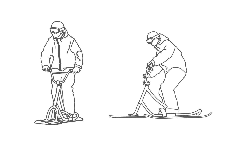 スノースクート基本姿勢